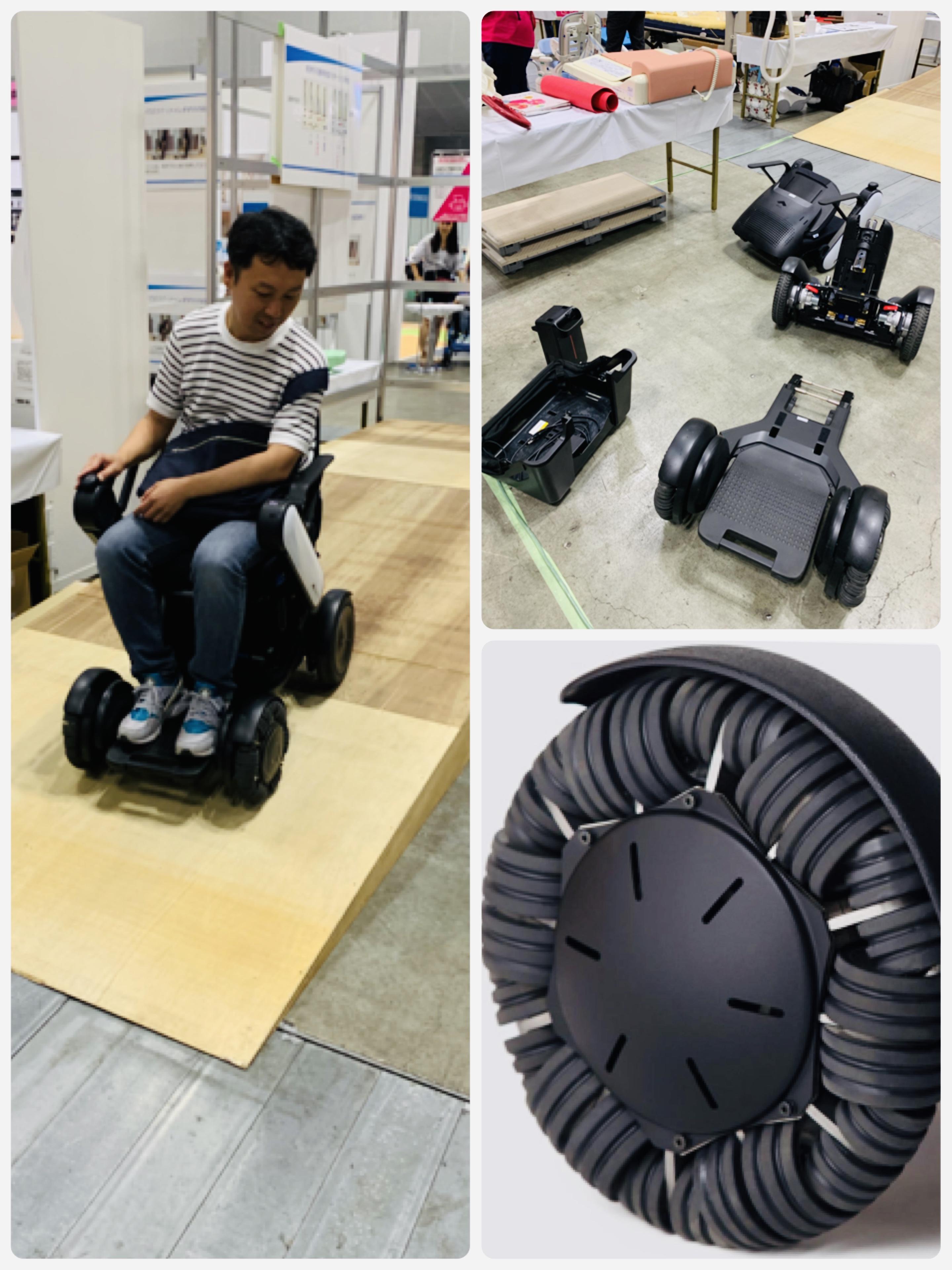 小さく回転できる電動車椅子